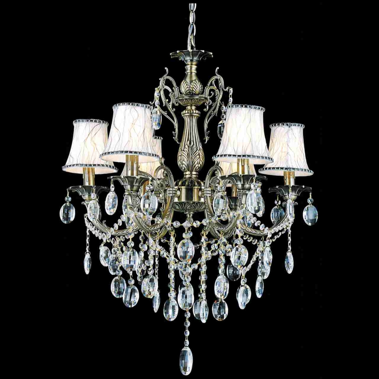 Chandelier With Shades And Crystals Regarding 2018 Brizzo Lighting Stores (View 7 of 15)
