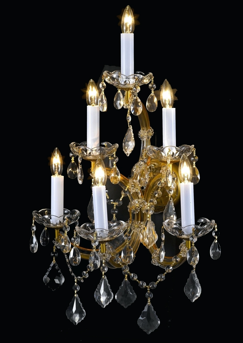Chandeliers ~ Crystal Chandelier Wall Sconces A83 6 66 Wall Sconces Pertaining To Popular Black Chandelier Wall Lights (View 7 of 15)