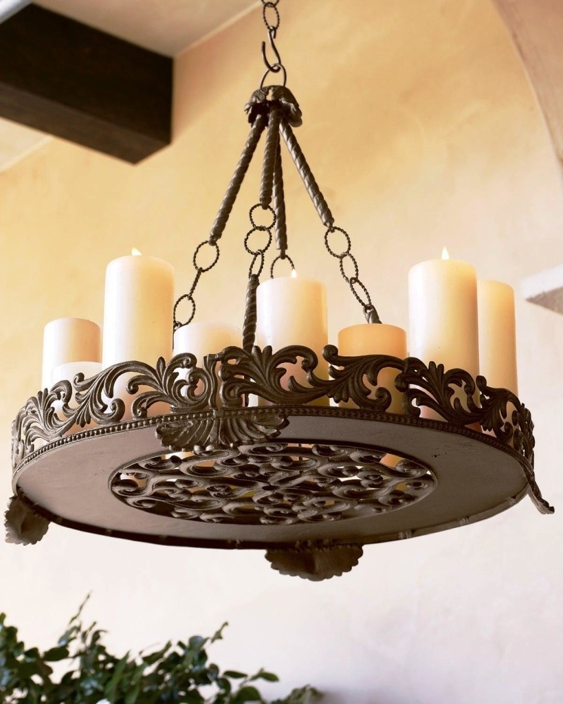 Chandeliers Design : Amazing Dining Room Bistro Table Classy Style In Trendy Candle Look Chandeliers (View 3 of 15)