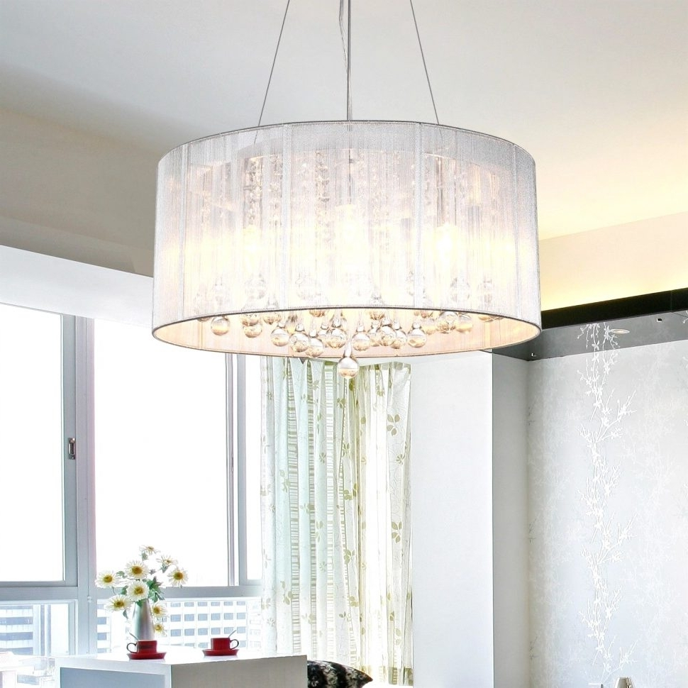 Chandeliers Design : Awesome Chandelier Lamp Shades Glass With Large Within Latest Chandeliers With Lamp Shades (View 4 of 15)