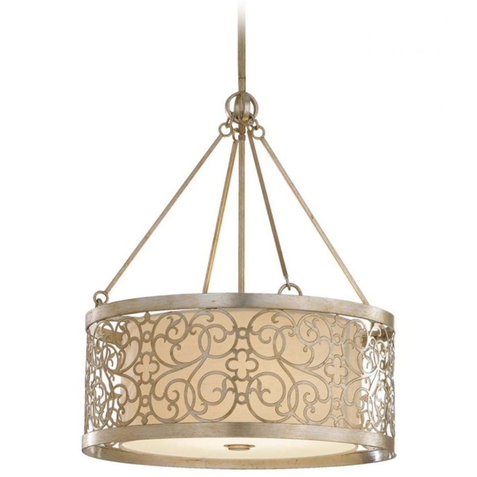 Chandeliers Design : Awesome Drum Pendant Lighting Brushed Nickel Intended For Widely Used Chandelier Accessories (View 12 of 15)