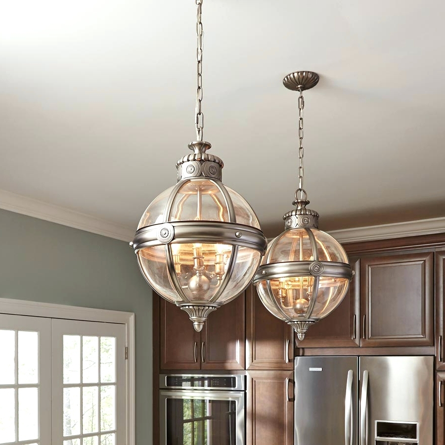 Chandeliers Design : Fabulous Large Globe Pendant Lighting Glass With Famous Chrome And Glass Chandeliers (View 6 of 15)