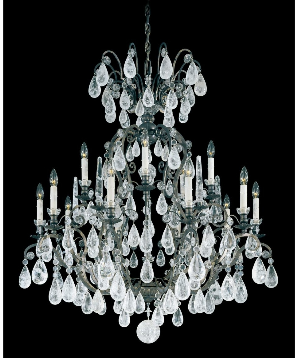 Chandeliers Design : Fabulous Schonbek Lighting Swarovski Crystal Intended For Well Known Black Chandelier Wall Lights (View 8 of 15)