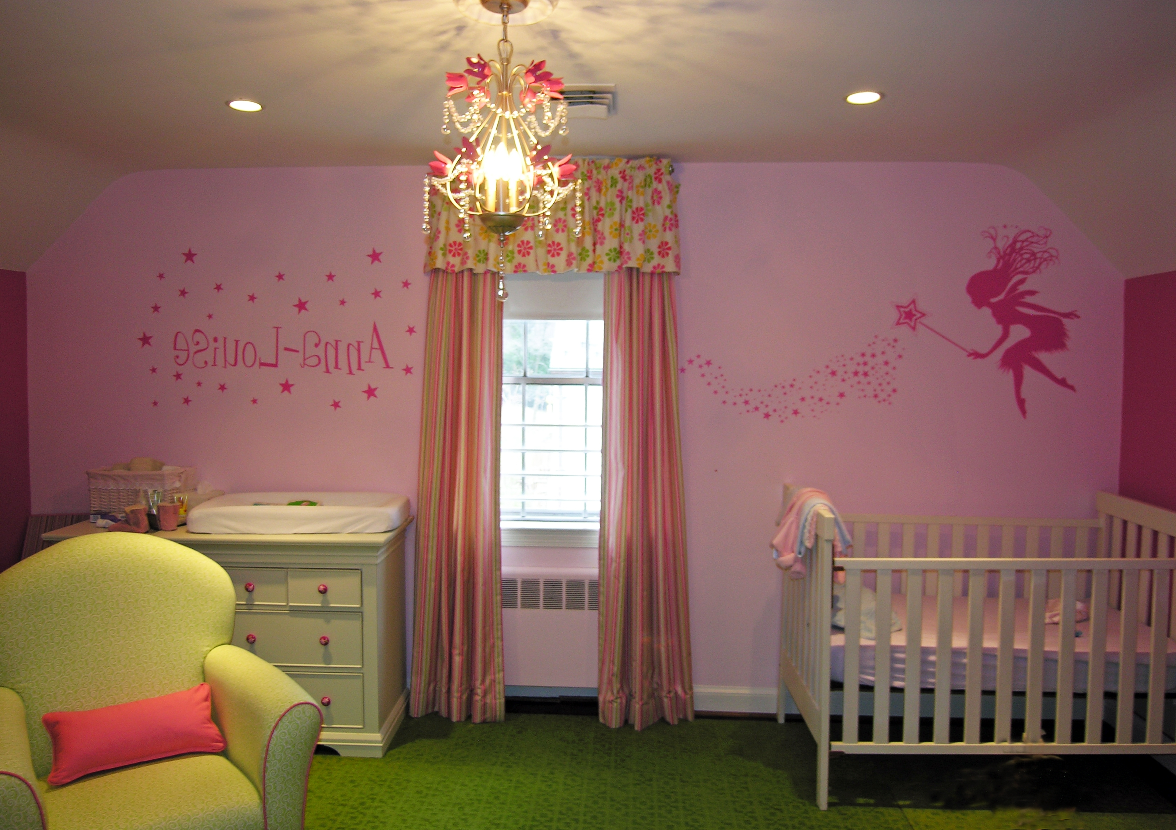 Chandeliers Design : Magnificent Mini Chandelier For Girls Room Teen Pertaining To Most Up To Date Crystal Chandeliers For Baby Girl Room (View 3 of 15)