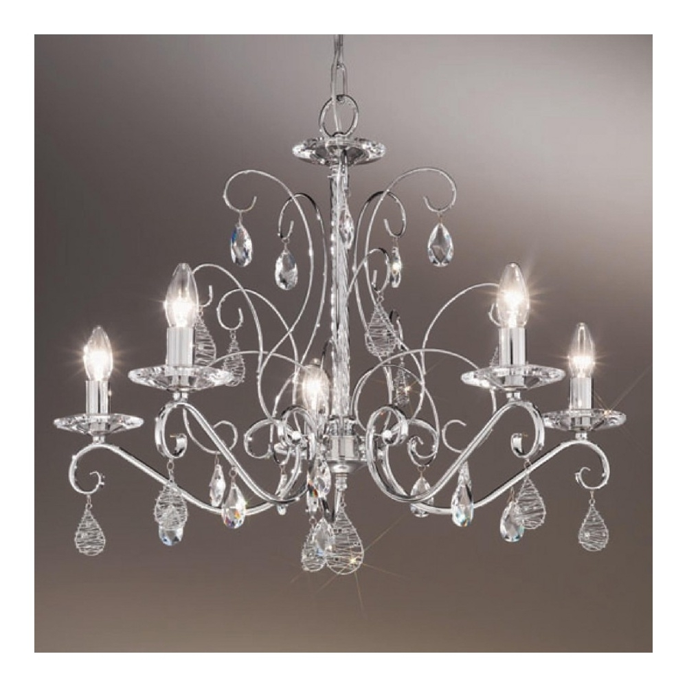 Chandeliers Design : Marvelous Scbk Swarovski Crystal Chandeliers Pertaining To Most Up To Date Chrome And Crystal Chandeliers (View 14 of 15)