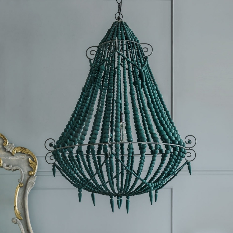Chandeliers Design : Wonderful Diy Turquoise Chandelier French Blue Regarding Most Up To Date Diy Turquoise Beaded Chandeliers (View 1 of 15)