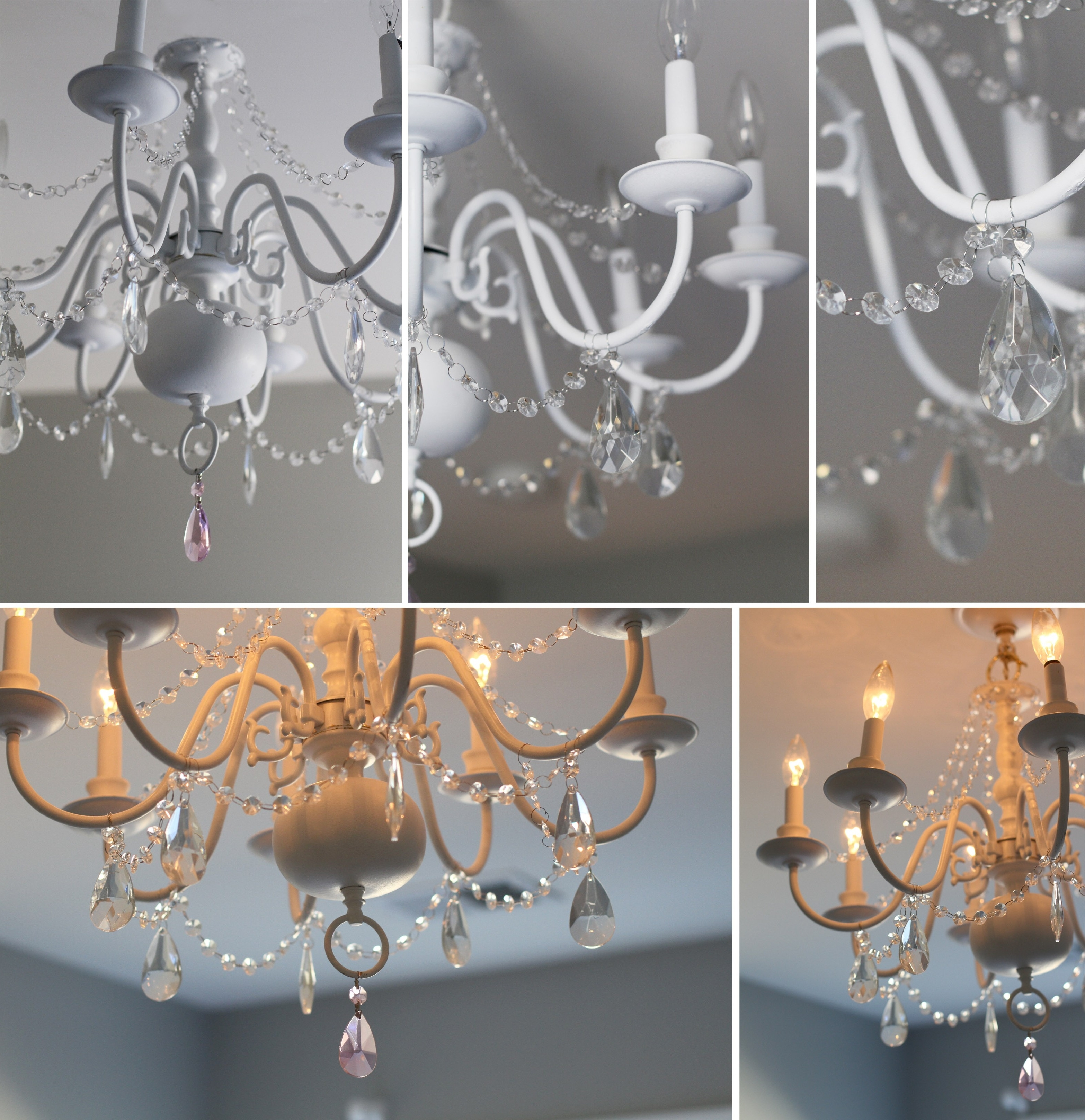 Chandeliers For Kids With Current 56 White Kids Chandelier, Kids White Crystal Chandelier Shades (View 7 of 15)