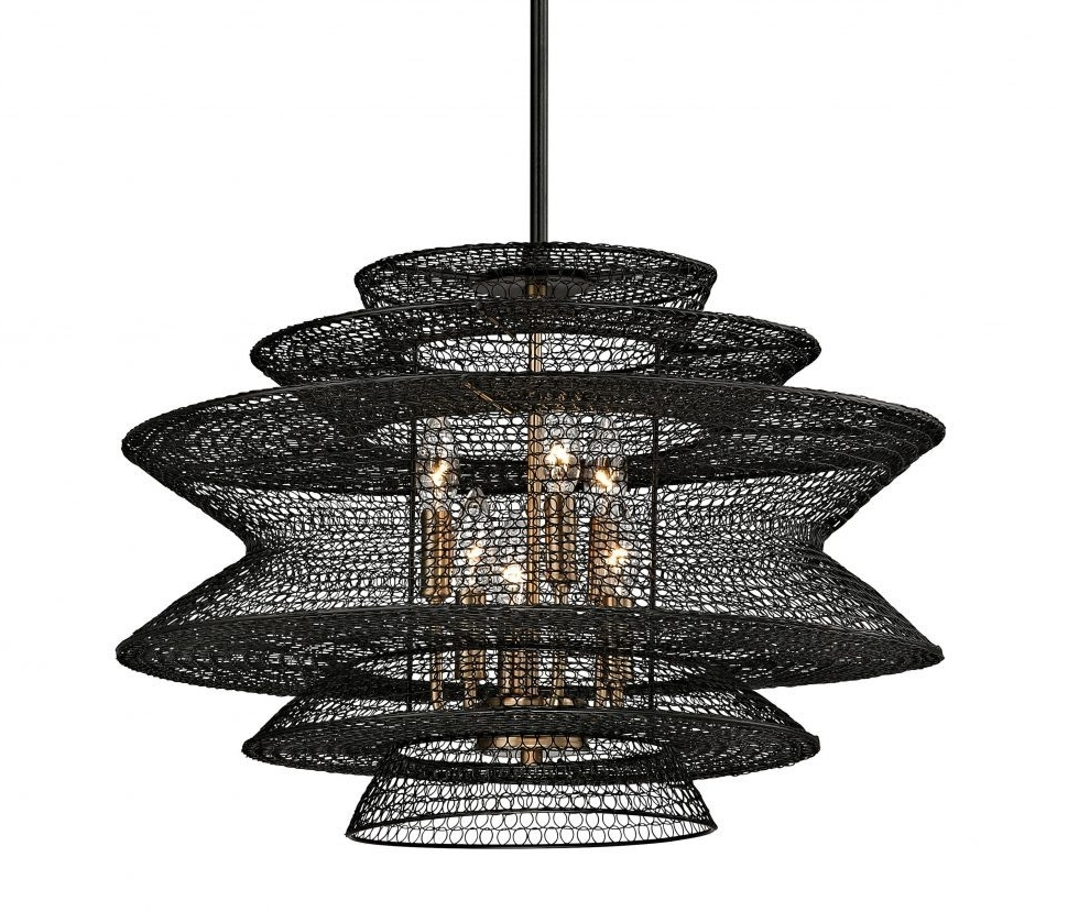 Chandeliers : Unique Clip On Chandelier Shades Rustic Wire Basket With Regard To 2017 Clip On Chandeliers (View 5 of 15)