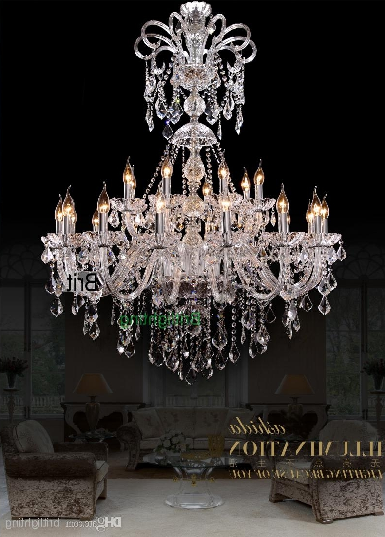 Chandeliers Vintage For Most Recently Released Extra Large Foyer Chandelier Vintage Chandeliers Modern Crystal (View 1 of 15)