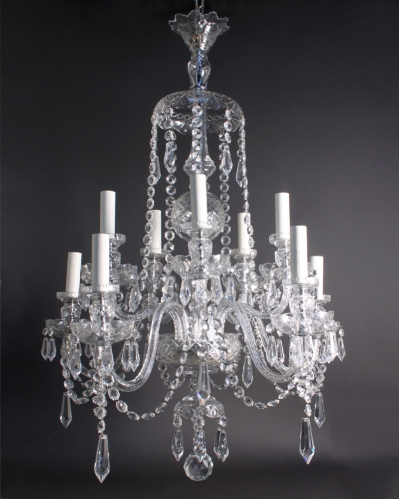 Chandeliers Vintage In Most Up To Date White Vintage Crystal Chandelier : Vintage Crystal Chandelier For A (View 2 of 15)