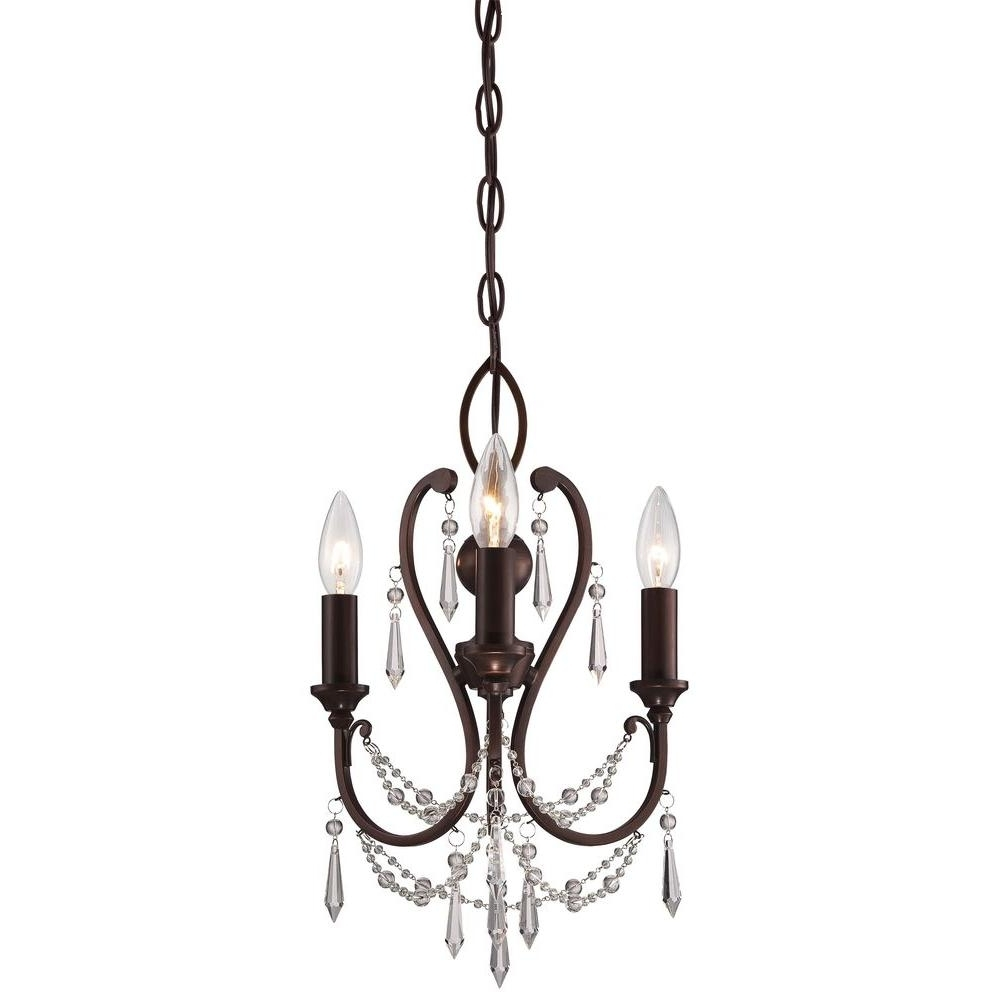 Chandeliers Vintage Regarding Well Liked Minka Lavery 3 Light Vintage Bronze Mini Chandelier 3138 284 – The (View 4 of 15)