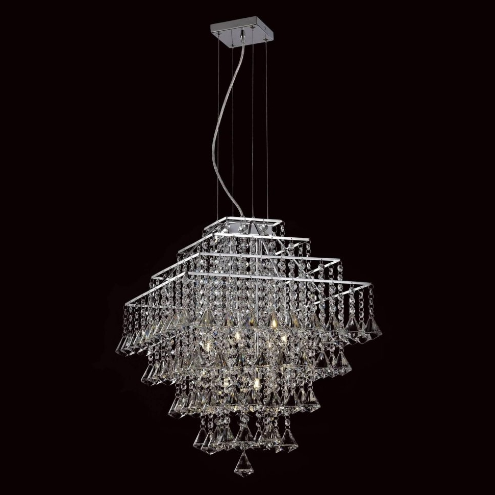 Chandeliers : Waterfall Crystal Chandelier Cascading Strauss In Most Current Crystal Waterfall Chandelier (View 8 of 15)
