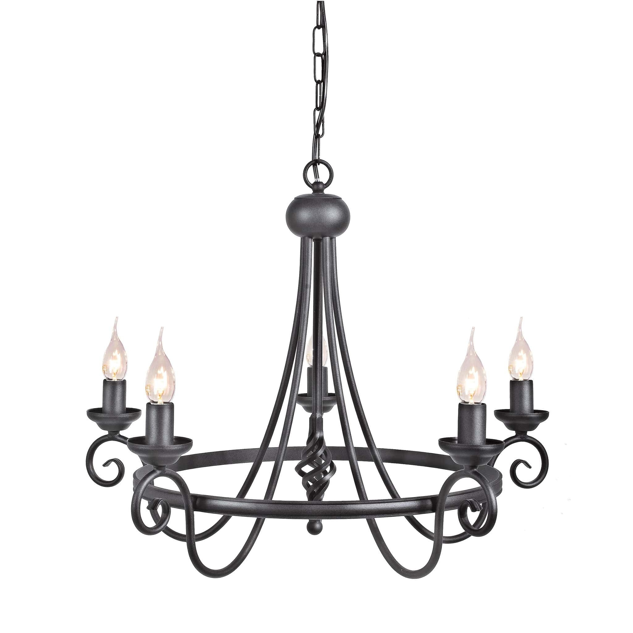 Chandeliers With Black Shades – Chandelier Showroom Intended For Preferred Chandeliers With Black Shades (View 1 of 15)