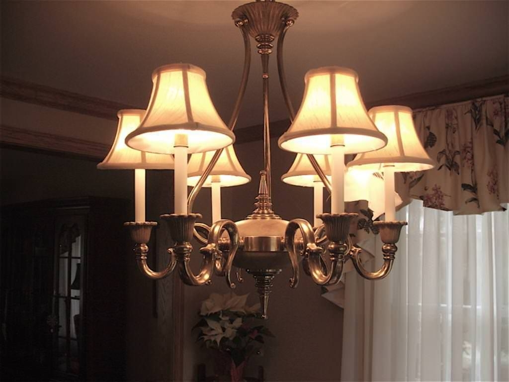Chandeliers With Lamp Shades Pertaining To Latest Fascinating Chandelier Light Shades Simple Candle Lamp With A (View 6 of 15)