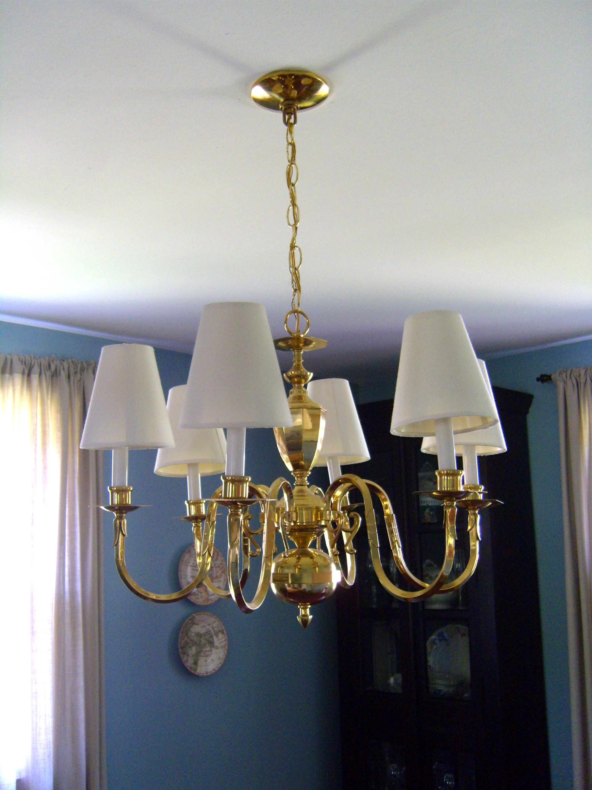 Chandeliers With Lamp Shades Pertaining To Widely Used Chandelier Lamp Shades Drum Shape Tab Blackover Drumless Less Shade (View 2 of 15)