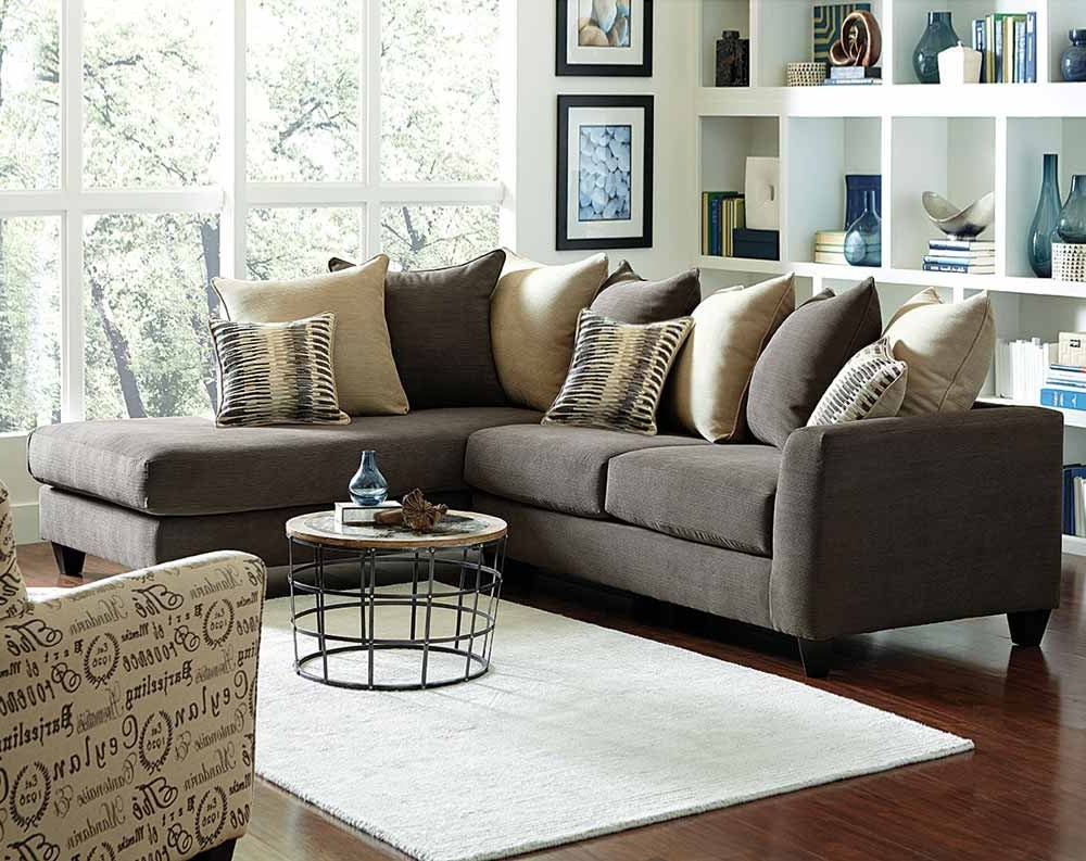 Charcoal Gray Couch With Chaise (View 2 of 15)