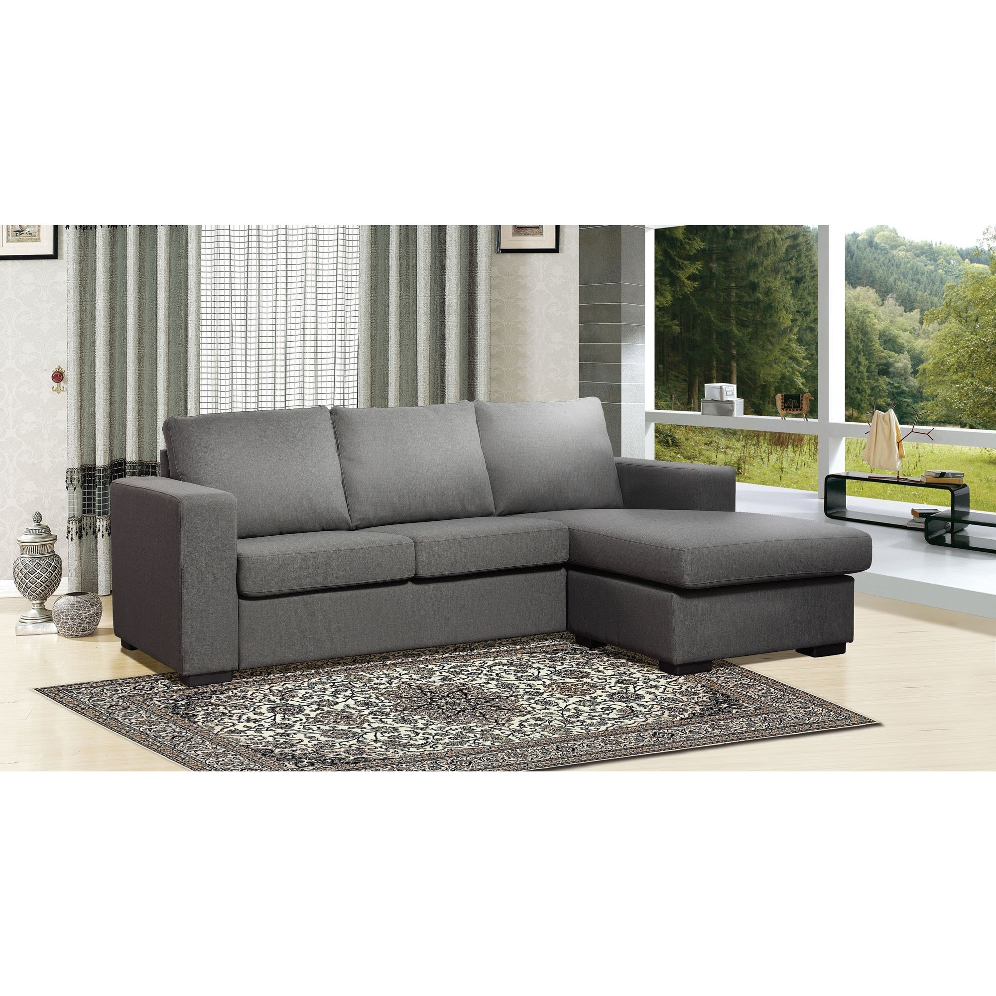 Charcoal Gray Sectional Sofas With Chaise Lounge For Most Up To Date Alenya 3 Piece Sectional Quartz Fabric Reclining Sectional Grey (View 14 of 15)