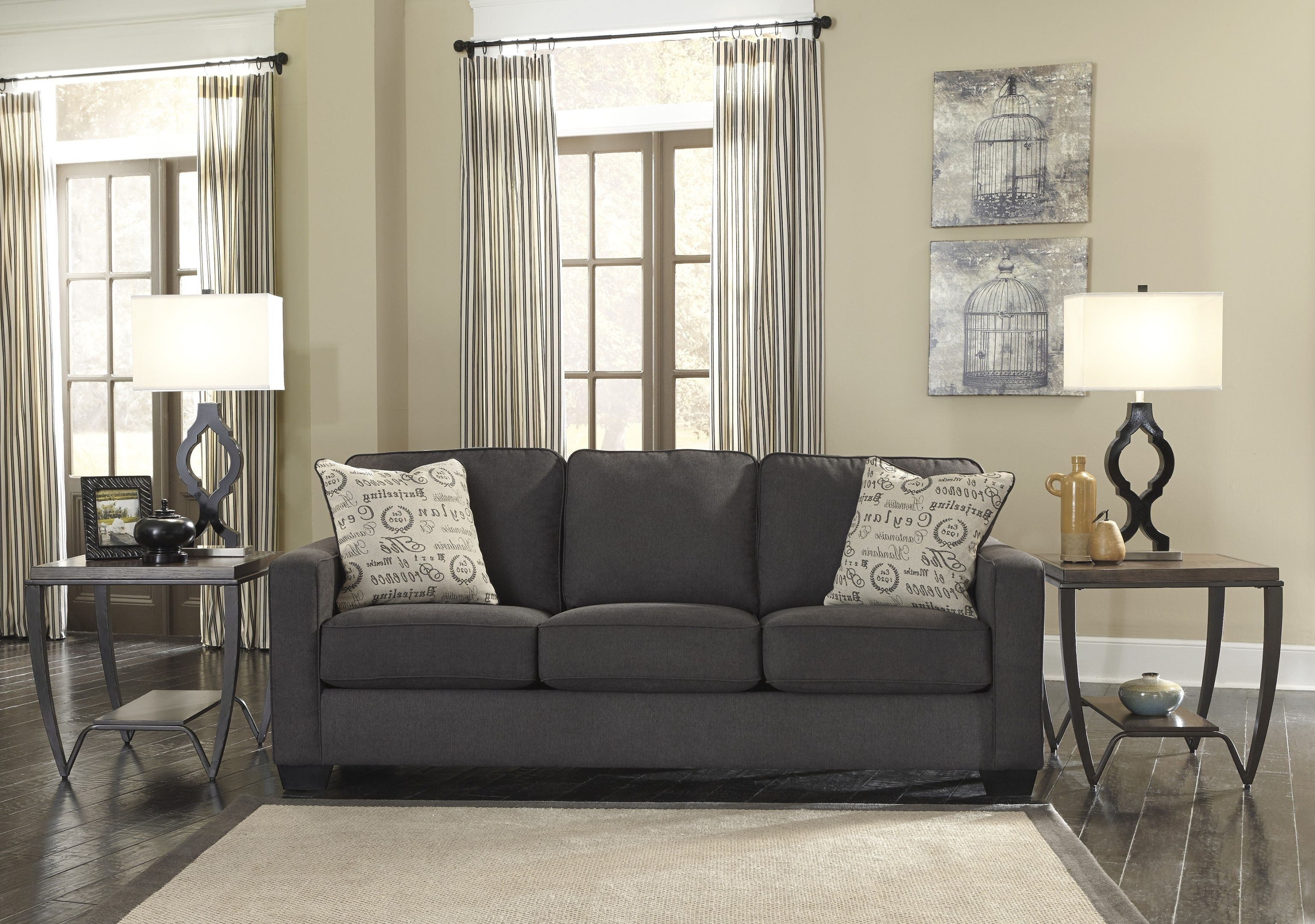 Charcoal Grey Sofas Within Preferred Blue And Yellow Living Room Ideas Finest Dark Gray Sofa Grey Couch (View 5 of 15)