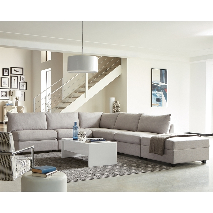 Charlotte Sectional Sofas Regarding Popular Shop Scott Living Charlotte Casual Gray Sectional At Lowes (View 5 of 15)