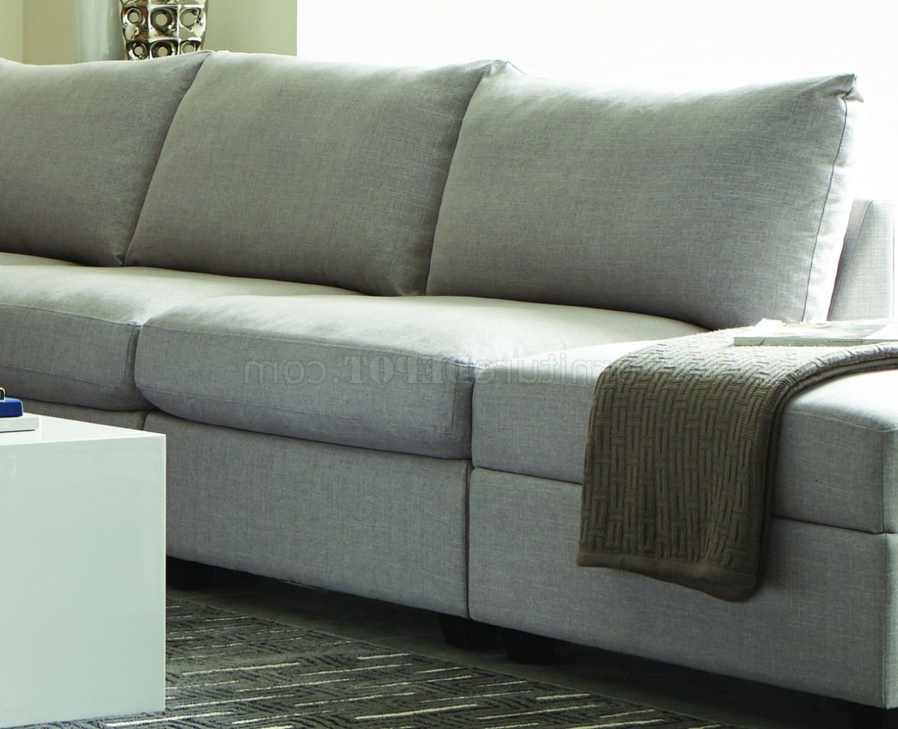 Charlotte Sectional Sofas With Regard To Most Current Charlotte 551221 – Scott Living – Coaster – Grey Sectional (View 6 of 15)