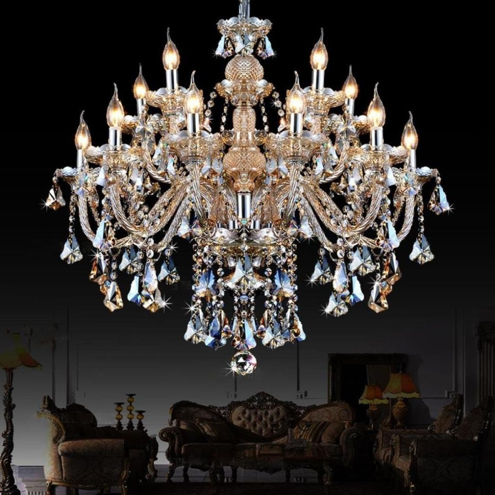 Cheap Big Chandeliers Throughout Newest Chandeliers Design : Fabulous Unique Crystal Chandeliers Where To (View 5 of 15)