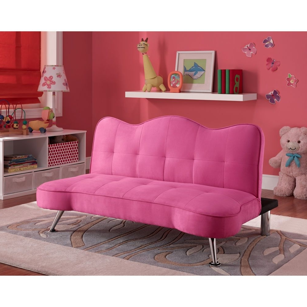 Cheap Kids Sofas With Regard To Trendy Convertible Sofa Bed Couch Kids Futon Lounger Girls Pink Bedroom (View 9 of 15)