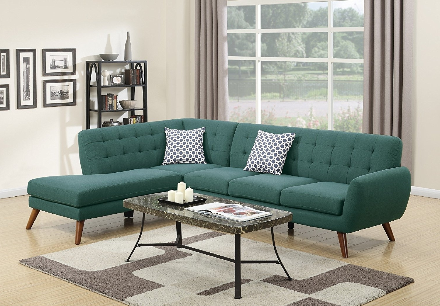 Cheap Retro Sofas Pertaining To Newest Amazon: Modern Retro Sectional Sofa (Laguna): Kitchen & Dining (View 4 of 15)