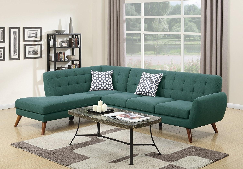 Cheap Retro Sofas Pertaining To Newest Amazon: Modern Retro Sectional Sofa (Laguna): Kitchen & Dining (View 11 of 15)