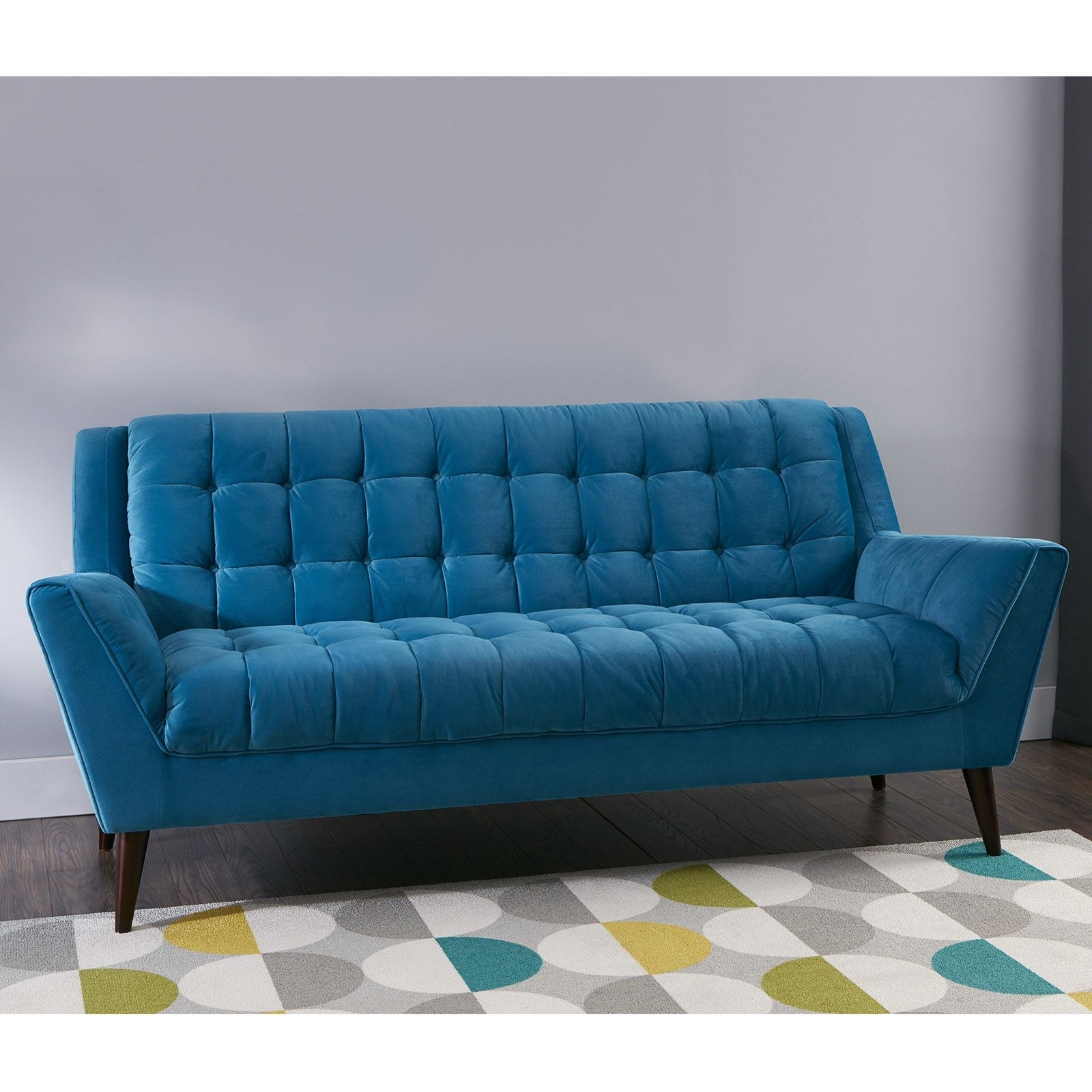 Cheap Retro Sofas Within Most Current Unbelievable Braxton Midcentury Modern Retro Sofa Teal At Home Of (View 7 of 15)