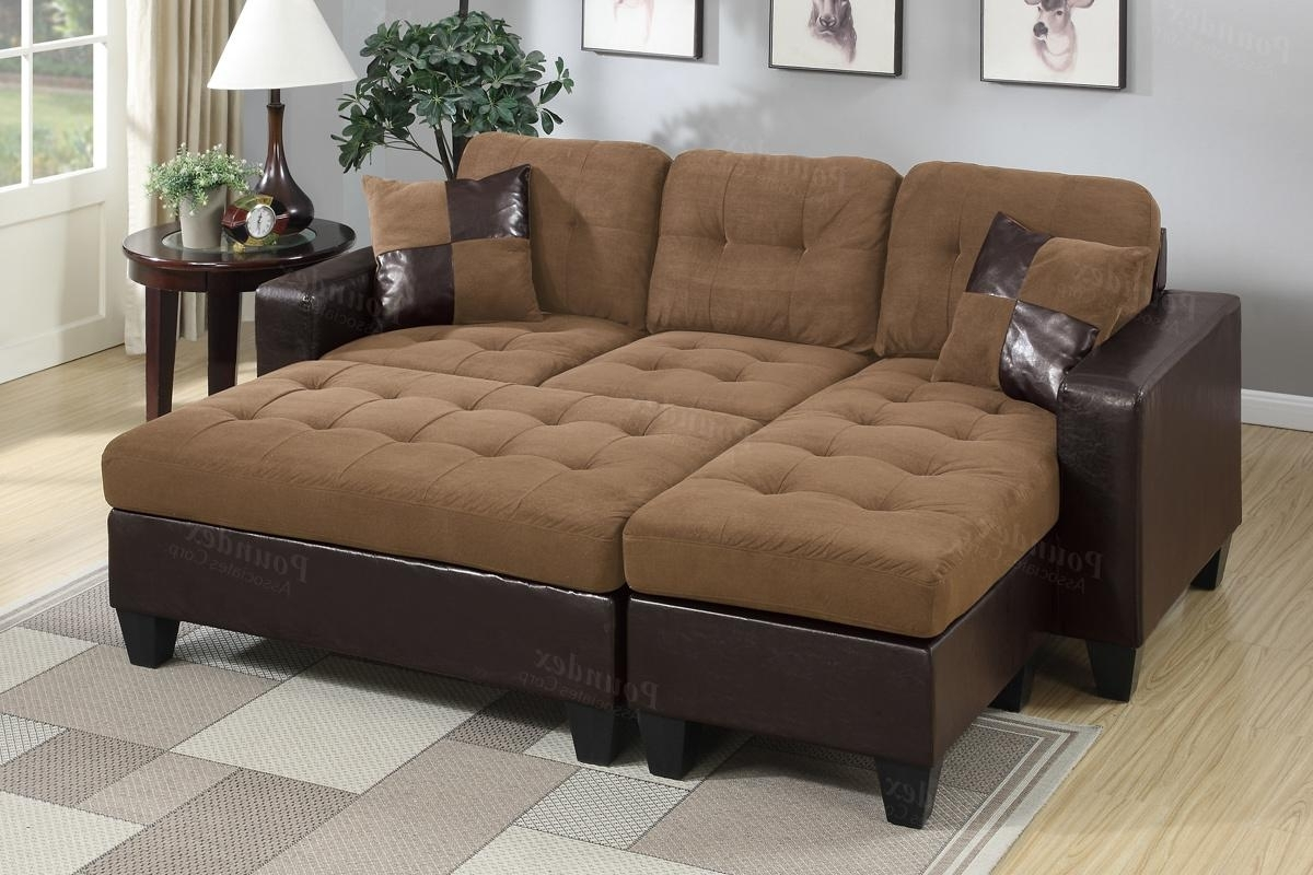 Cheap Sectionals With Ottoman Regarding Well Liked Brown Leather Sectional Sofa And Ottoman – Steal A Sofa Furniture (View 4 of 15)