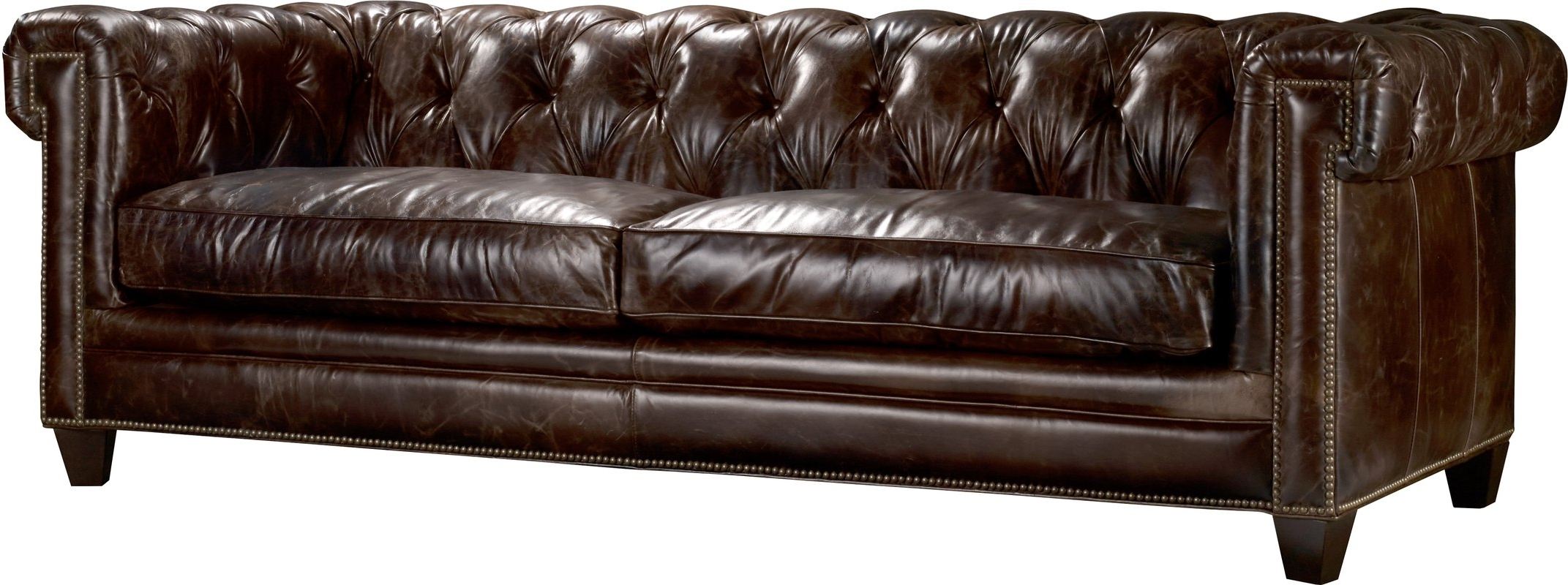 Chesterfield Sofas Regarding Famous Hooker Furniture Imperial Regal Stationary Leather Chesterfield (View 11 of 15)