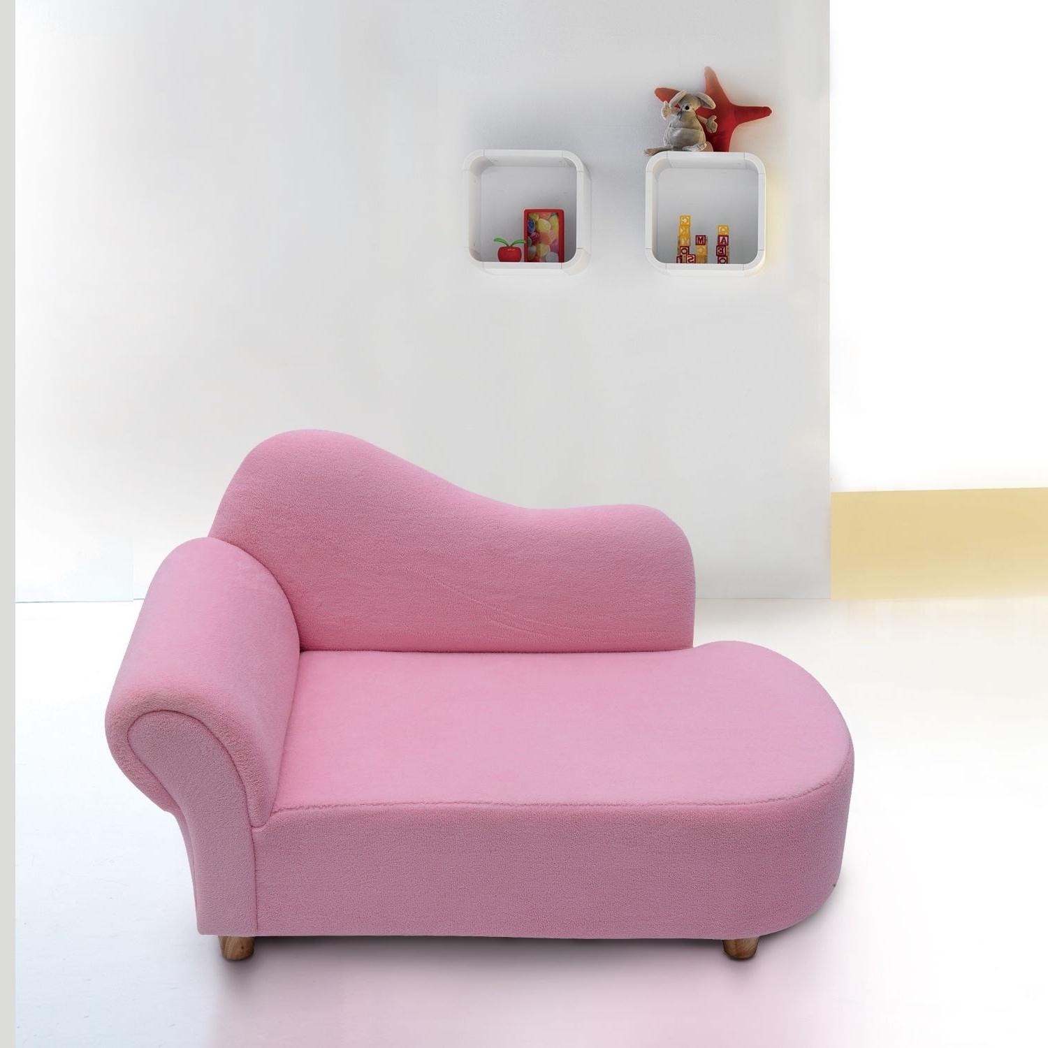 Children's Chaise Lounges Regarding Widely Used Homcom Velvet Kids Chaise Lounge Sofa Pink (View 7 of 15)