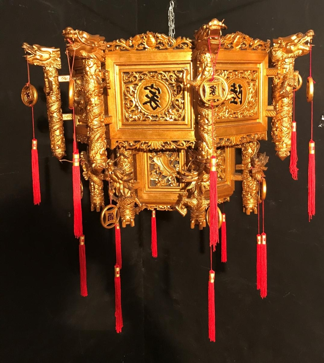 Chinese Chandelier Intended For Famous Chinese Chandelier Dore 'xxth Century – Ceiling Lights (View 4 of 15)