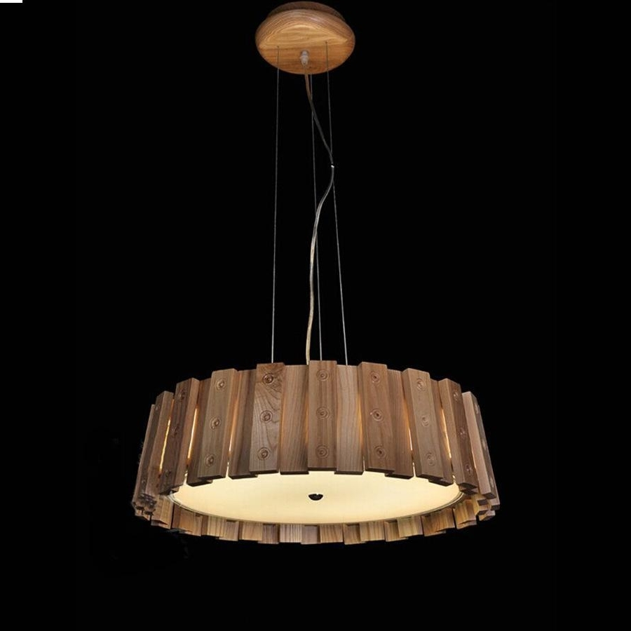Chinese Chandelier Throughout Current Chandelier,the New Chinese Modern Minimalist Wood Casks Creative (View 5 of 15)