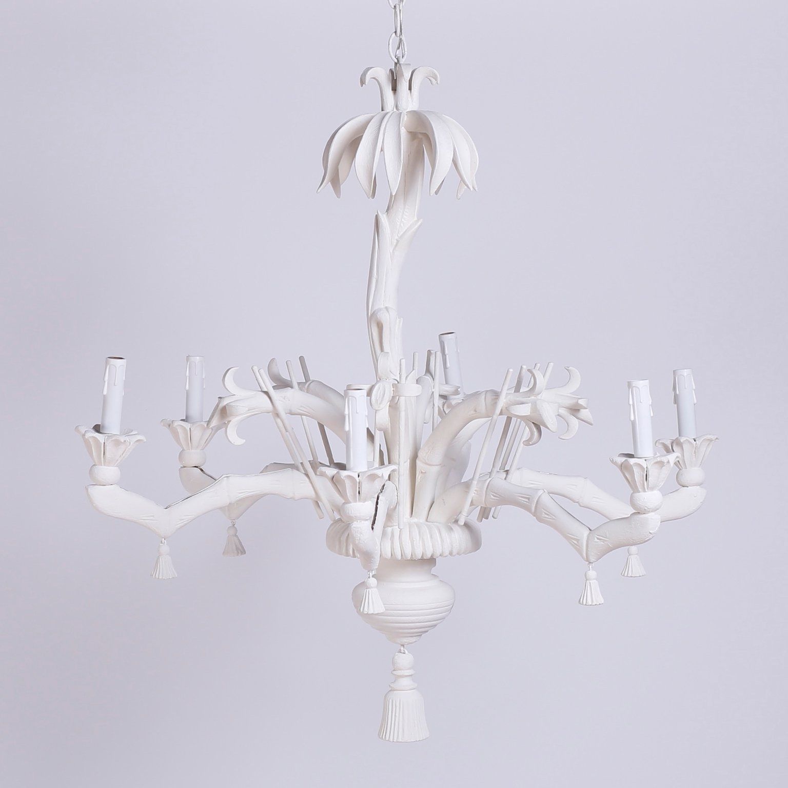 Chinoiserie Chandeliers In Best And Newest White Palm Tree Chandelier At 1Stdibs (View 9 of 15)