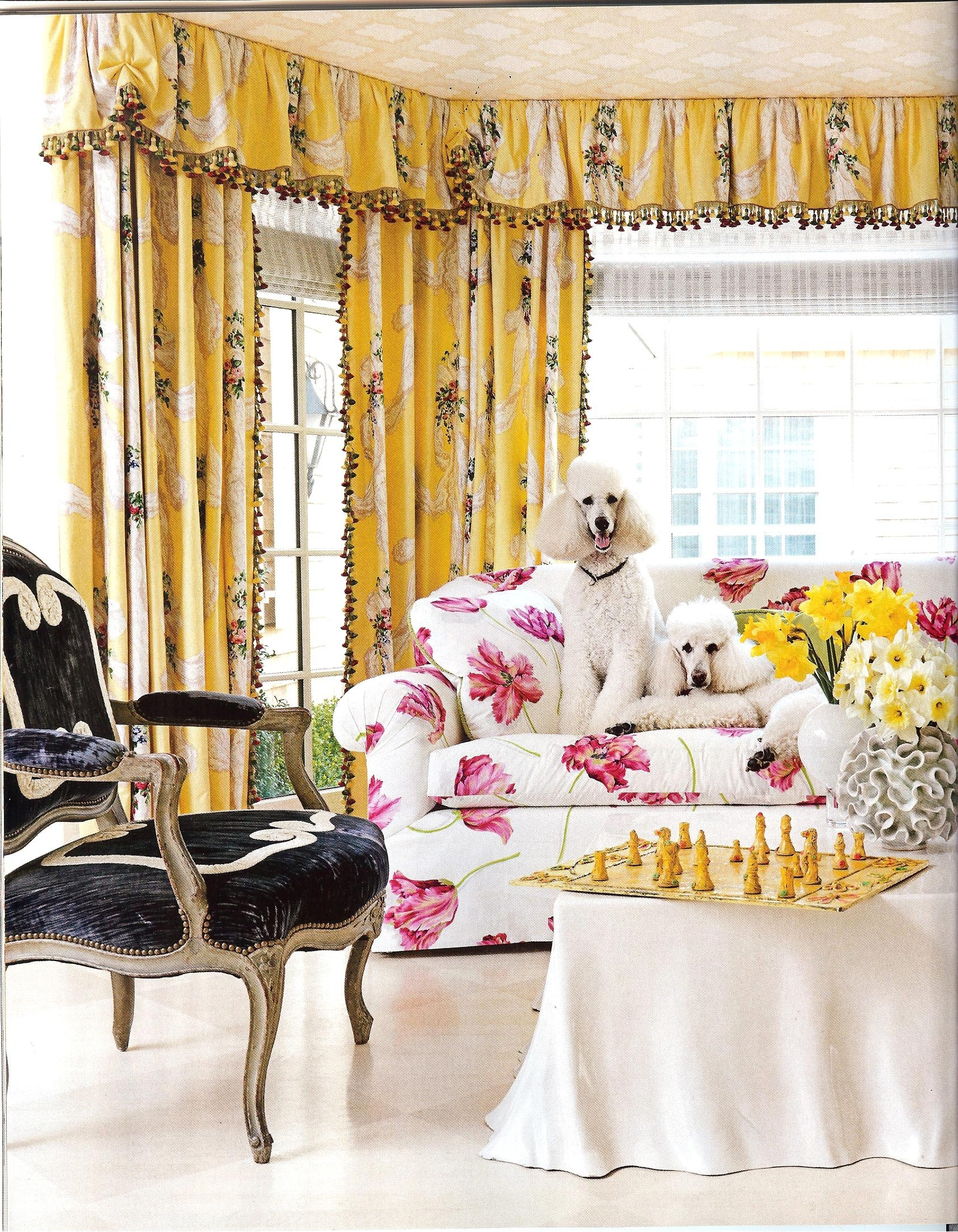 Chintz Fabric Sofas With Well Known Are Those Chintz Fabrics That I See In House Beautiful Feb  (View 7 of 15)