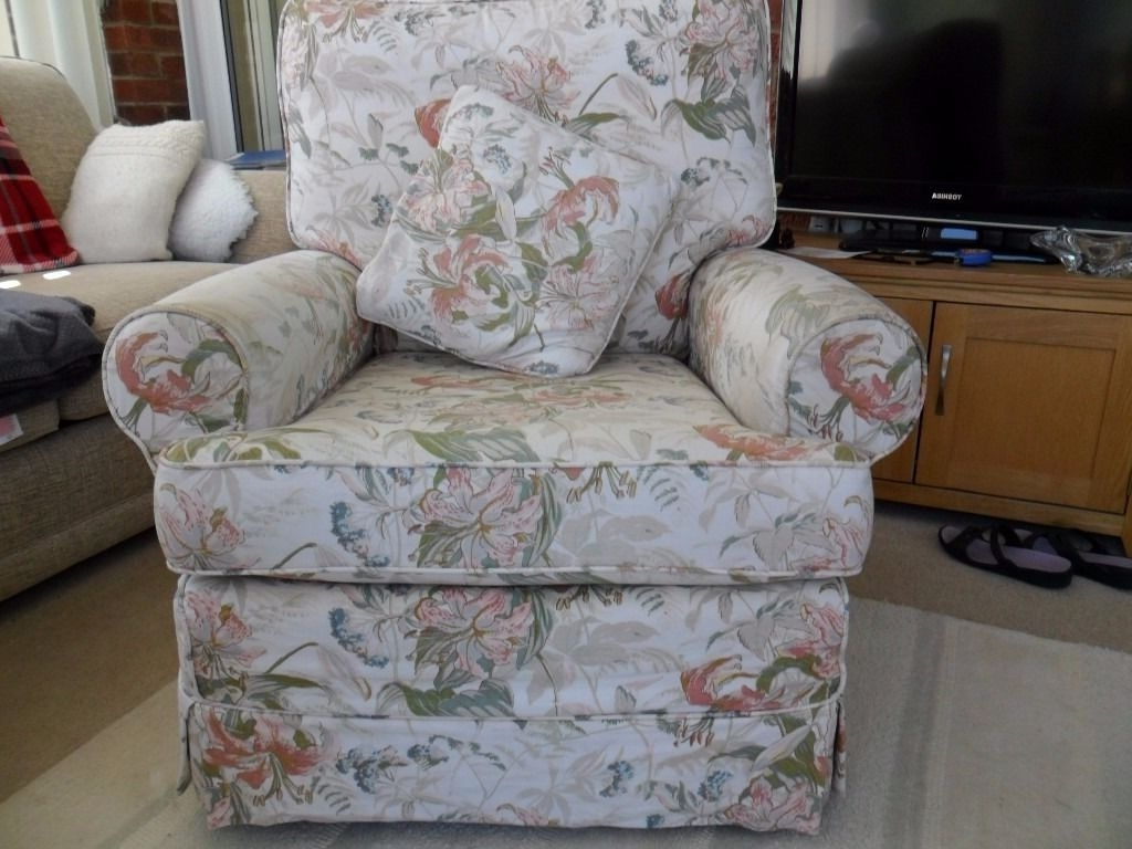Chintz Sofas And Chairs Inside Well Known Chairs : Upholstered Arm Chair Beautiful Chintz Sofas And Chairs (View 9 of 15)
