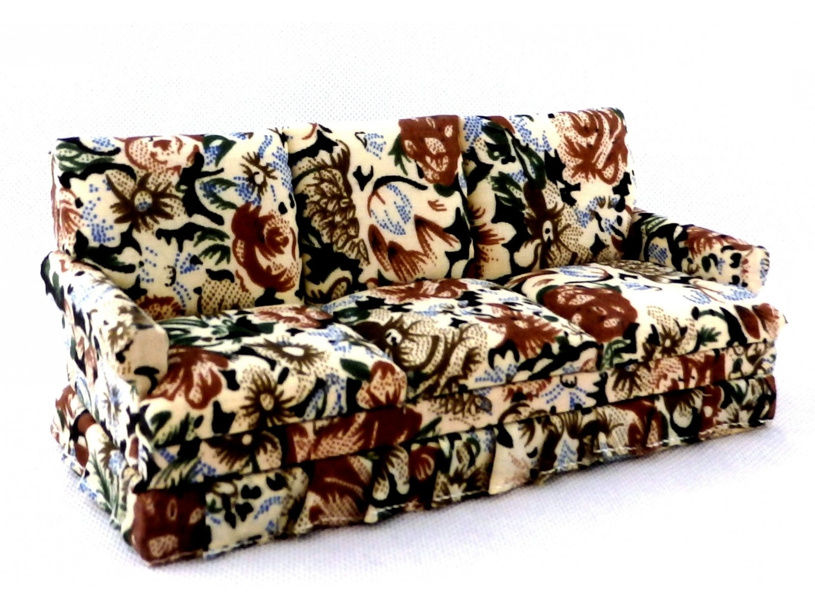 Chintz Sofas And Chairs Intended For Preferred Living Room Furniture 1950's Floral Chintz 3 Seater Sofa (View 14 of 15)