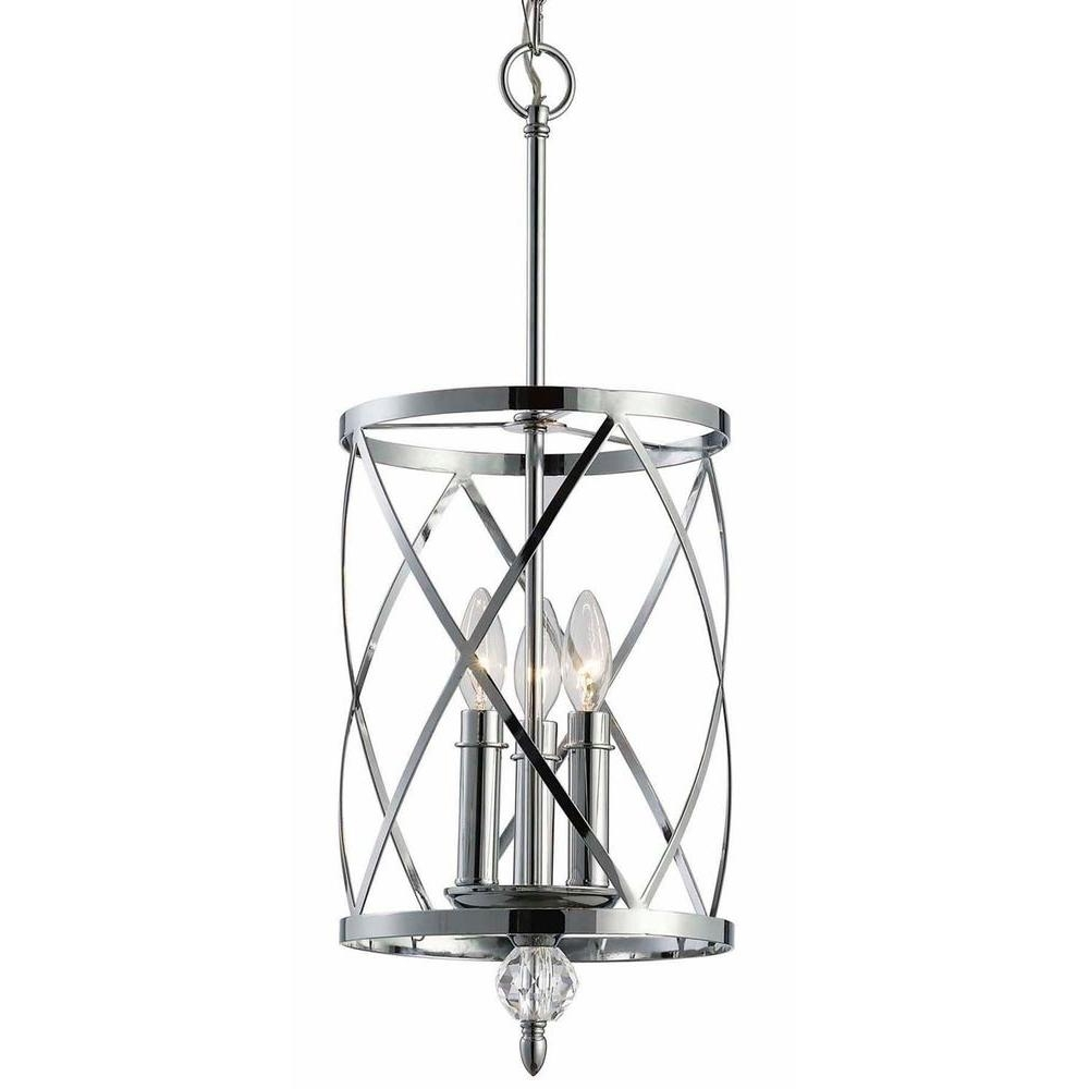 Chrome Chandeliers For Well Liked Canarm Vanessa 3 Light Chrome Chandelier Ich172B03Ch10 – The Home Depot (View 4 of 15)