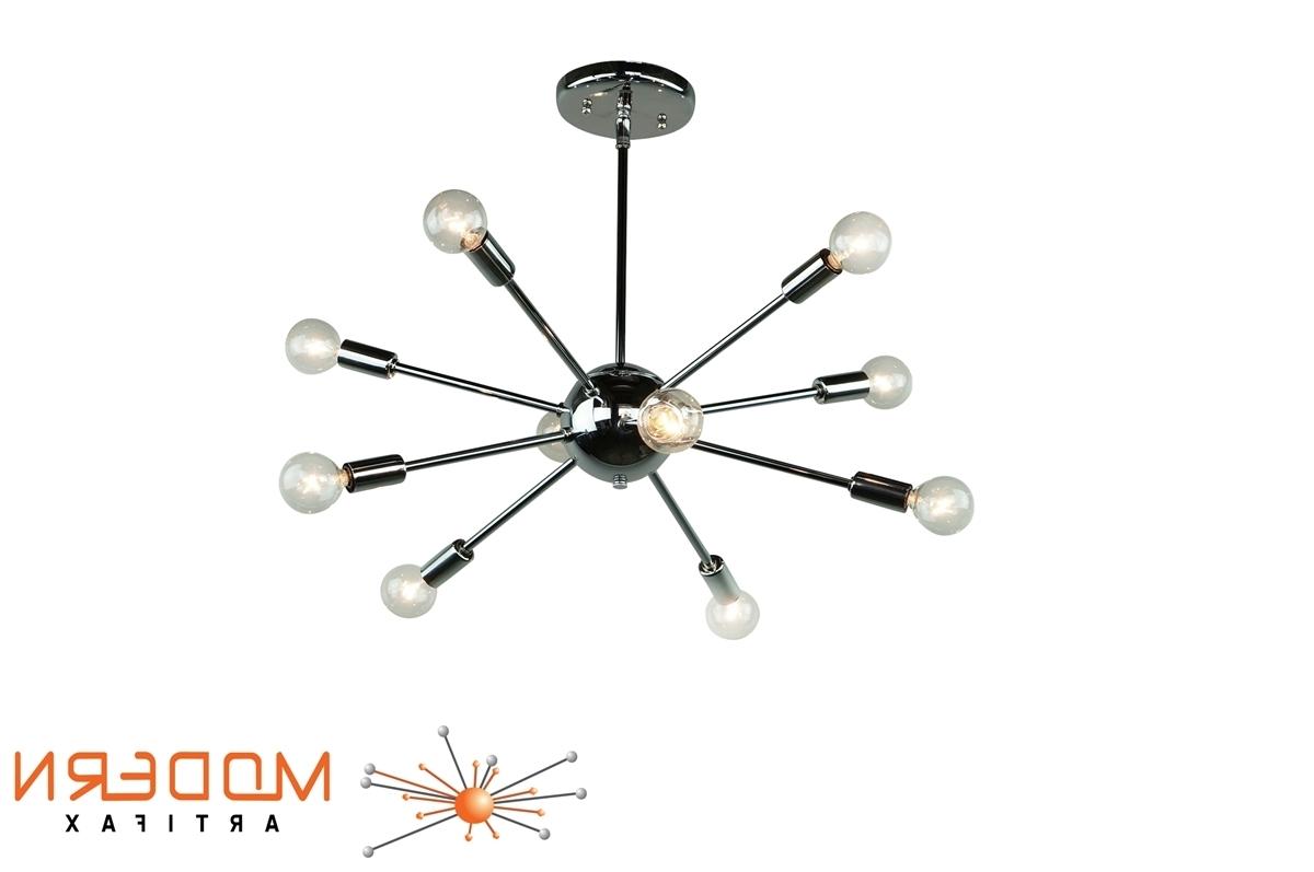 "Chrome Sputnik Chandeliers regarding Trendy Chrome Sputnik Chandelier 20"" In Diameter With 10 Arms"