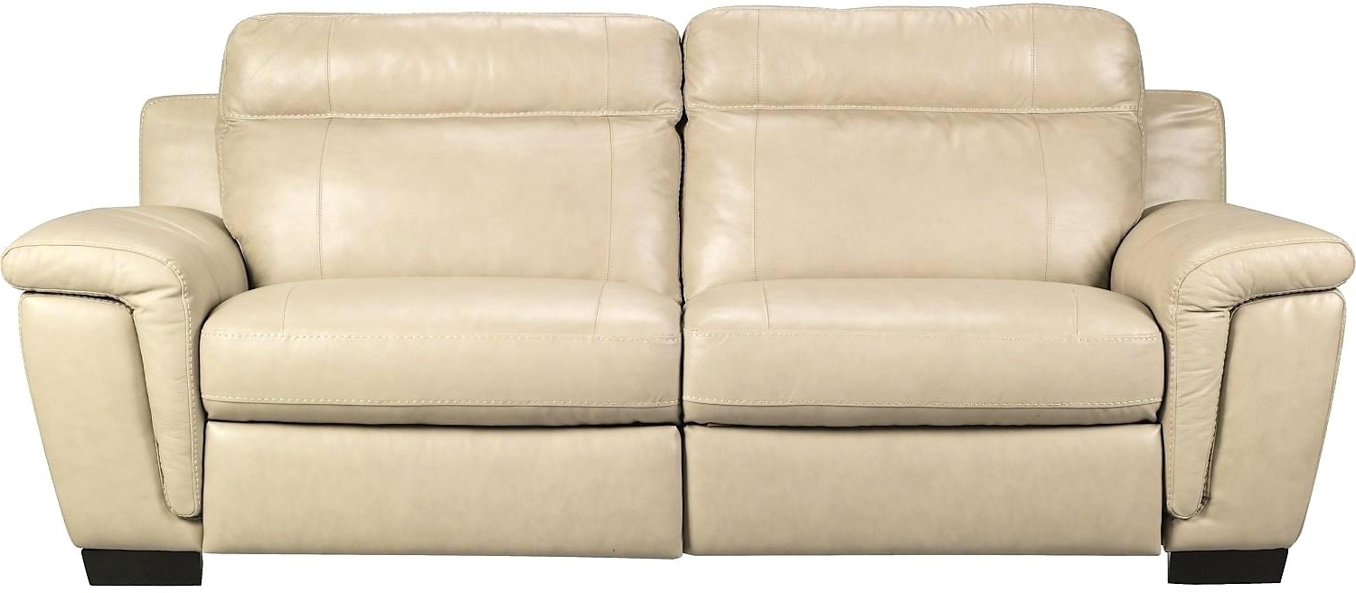 Cindy Crawford Furniture Line S Vita Genuine Leather Sofa Smoke Within Most Popular The Brick Leather Sofas (View 1 of 15)