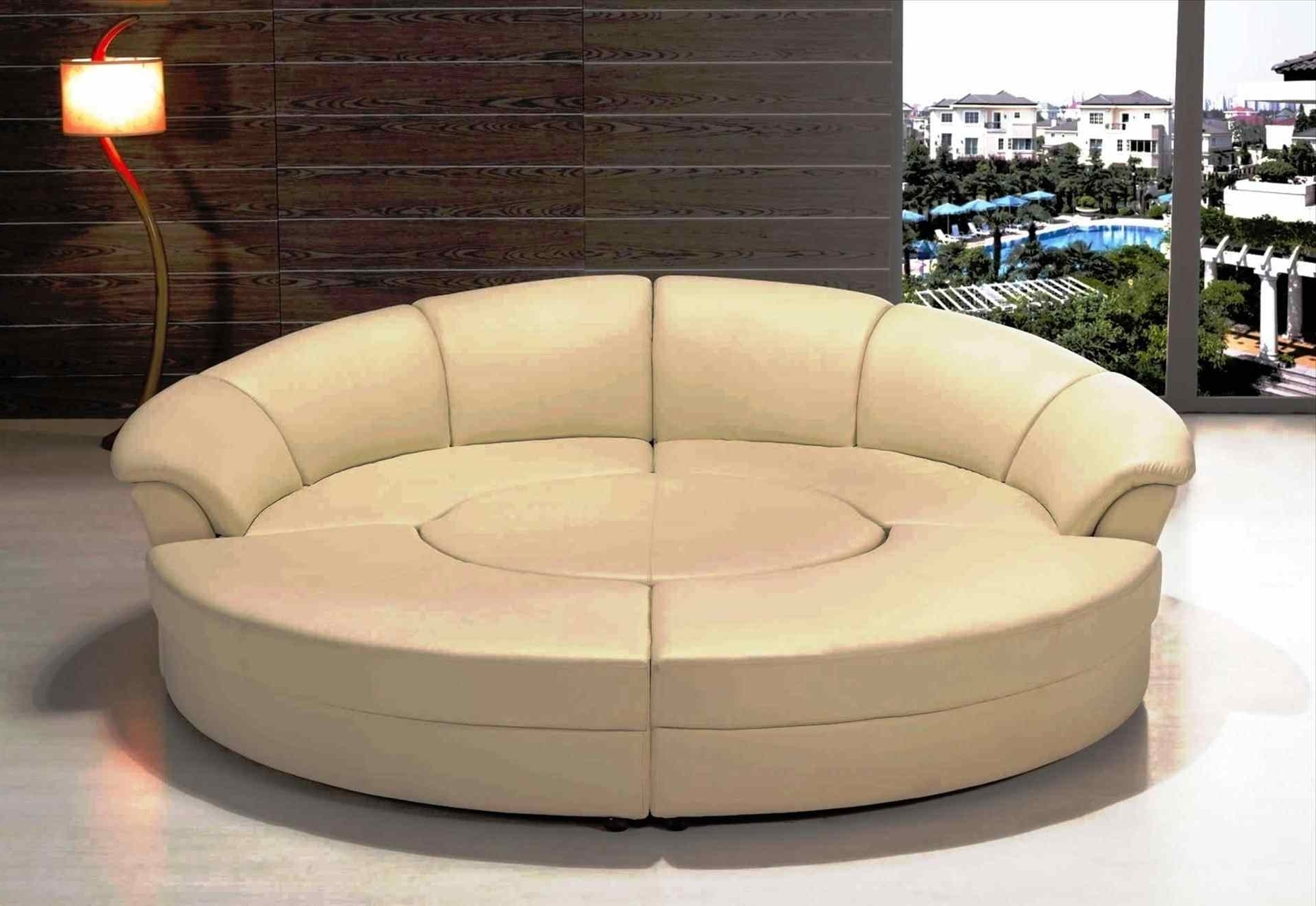 Circle Sofas Within 2017 Couch : Furniture Circle Couch Manstad Sofa Bed For Cozy Living (View 5 of 15)