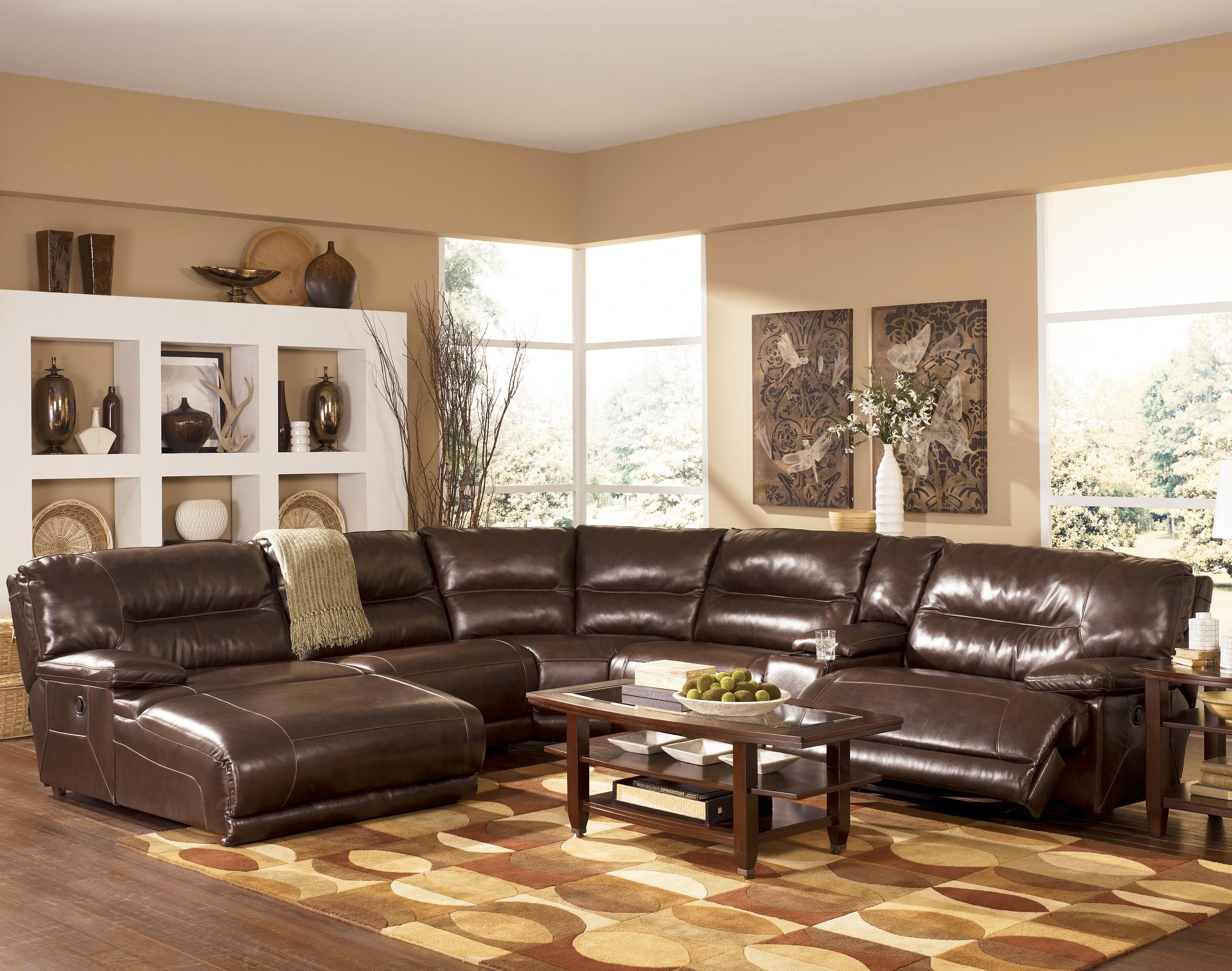 Clarksville Tn Sectional Sofas Within Best And Newest Signature Designashley Exhilaration – Chocolate Contemporary (View 5 of 15)
