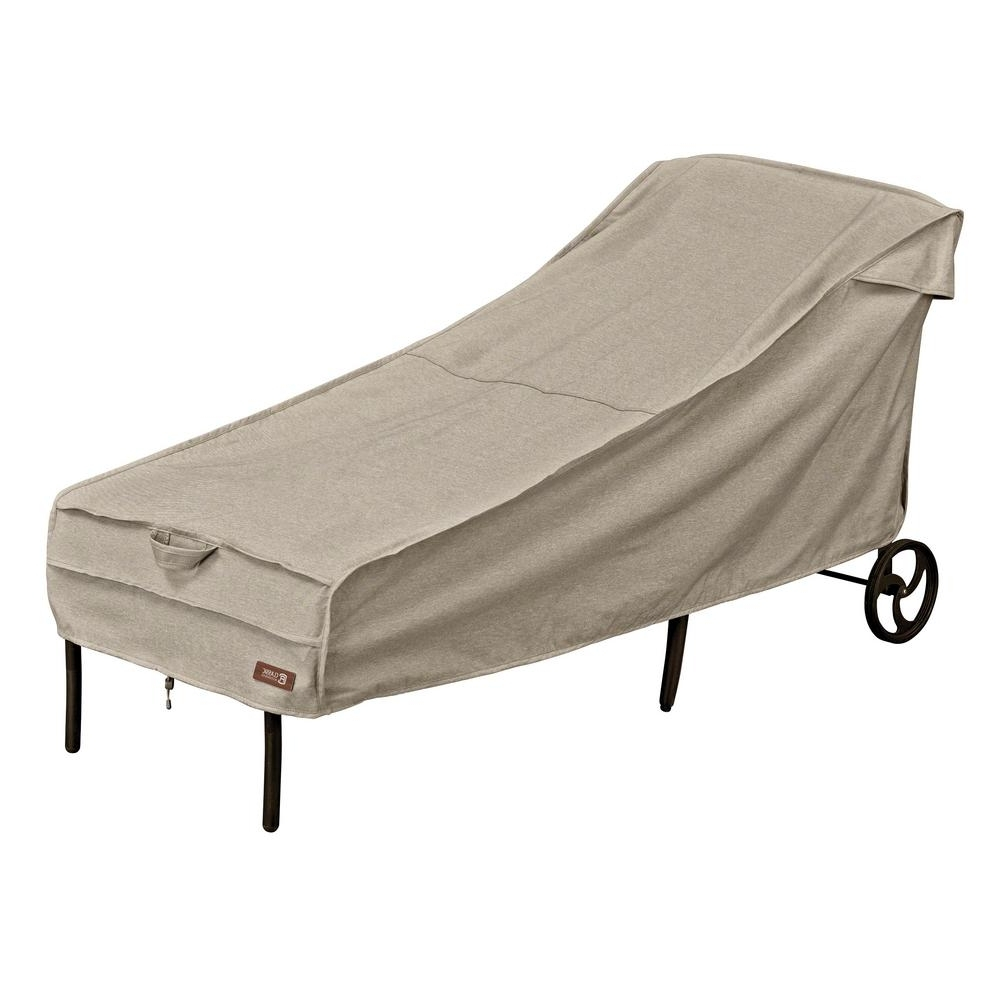 Classic Accessories Veranda Patio Chaise Cover 78952 – The Home Depot In Most Recent Chaise Lounge Covers (View 6 of 15)