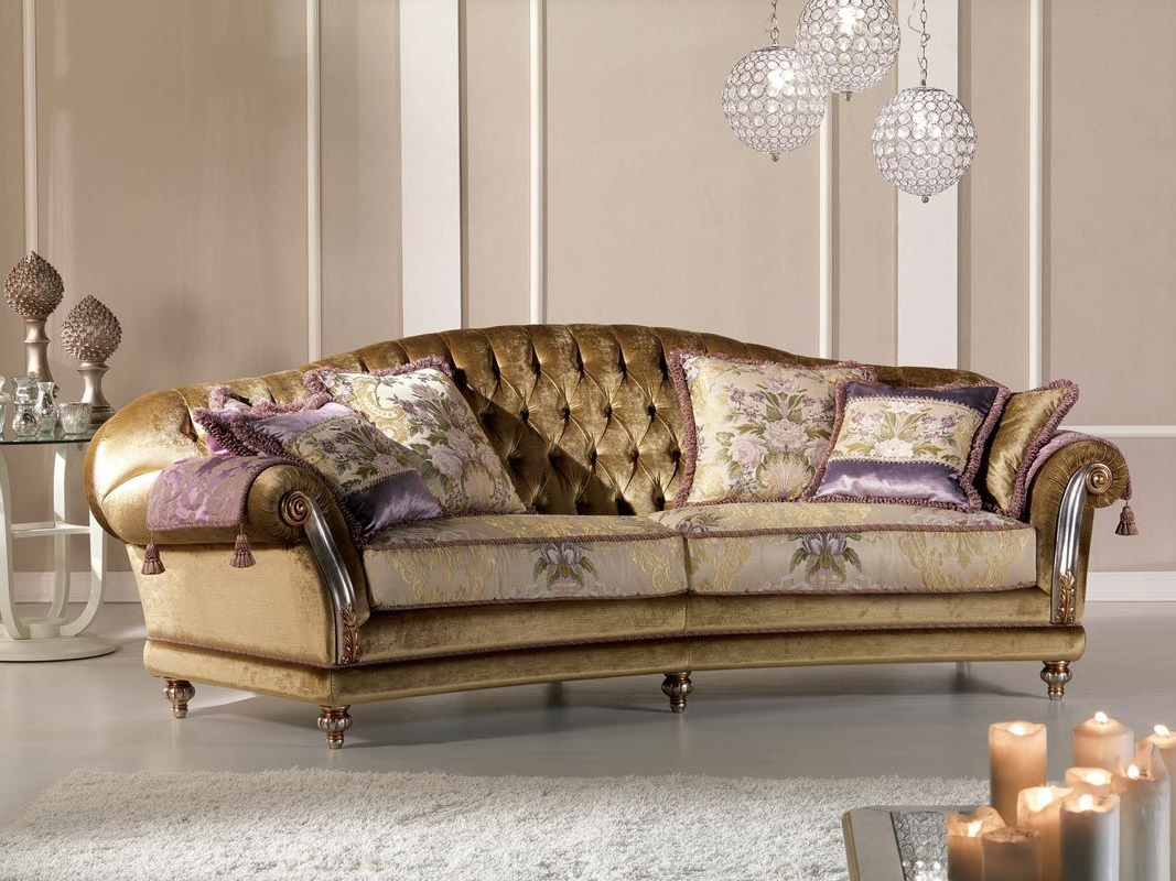 Classic Sofa / Velvet / 2 Seater – Etoile Ring – Pigoli Intended For Favorite Classic Sofas (View 2 of 15)