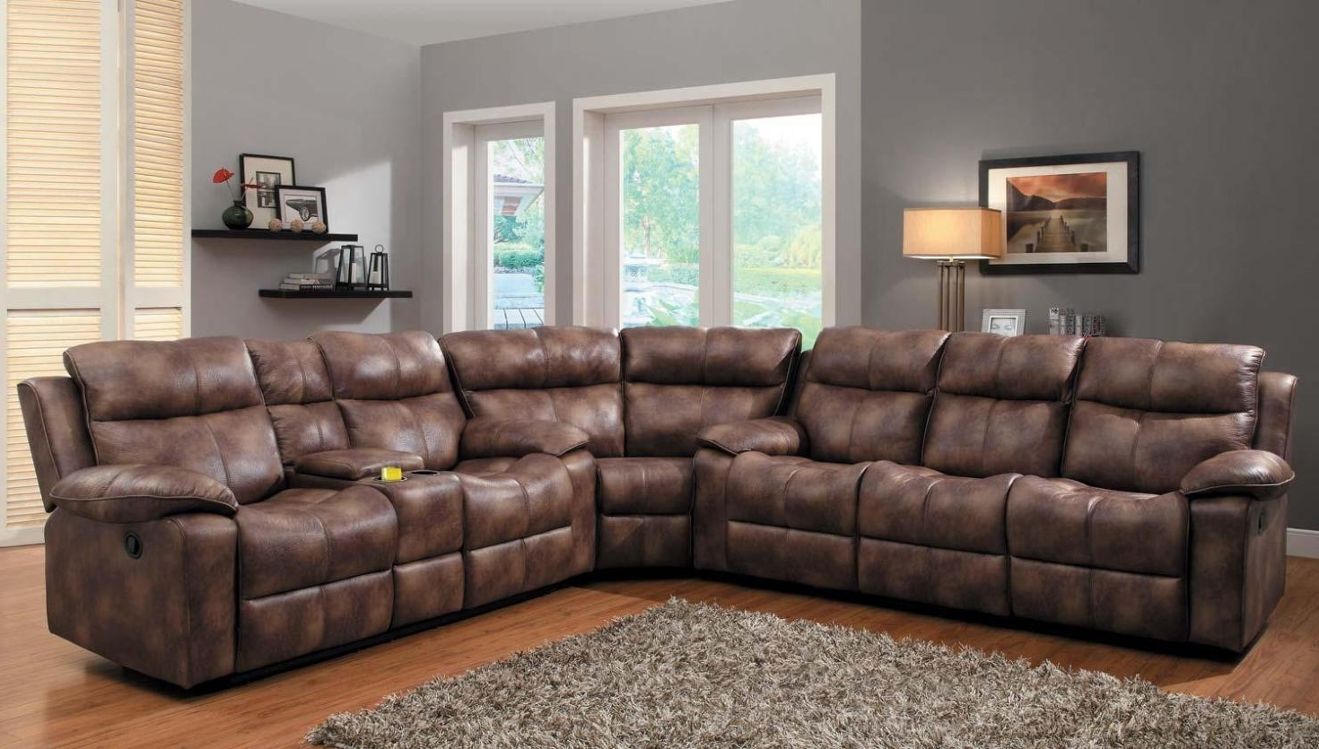 Clearance Sectional Sofas For Well Liked Genuine Leather Sectional Sectionals Sofas Top Grain Leather Sofa (View 4 of 15)