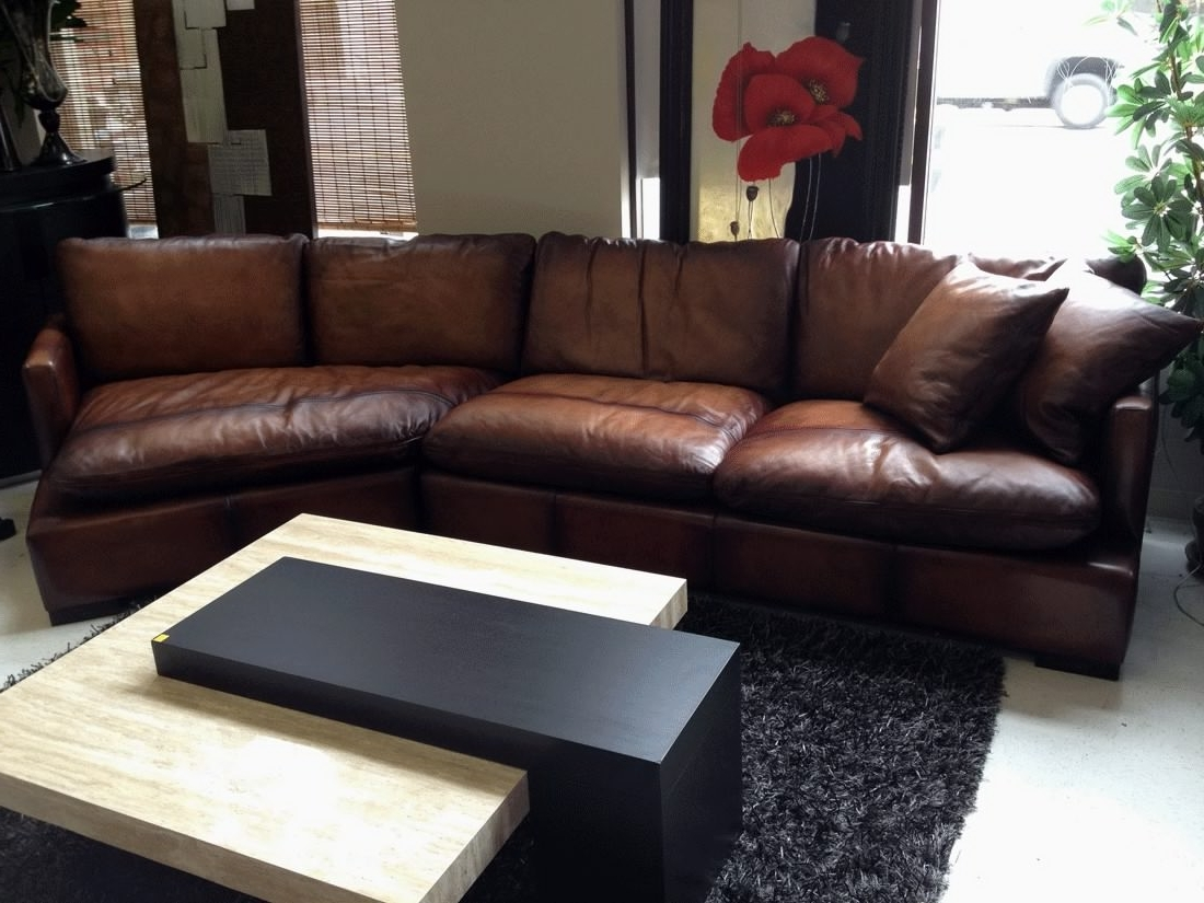 Clearance Sectional Sofas Pertaining To Favorite Sectional Sofa Design: Brown Leather Sectional Sofa Chaise (View 11 of 15)