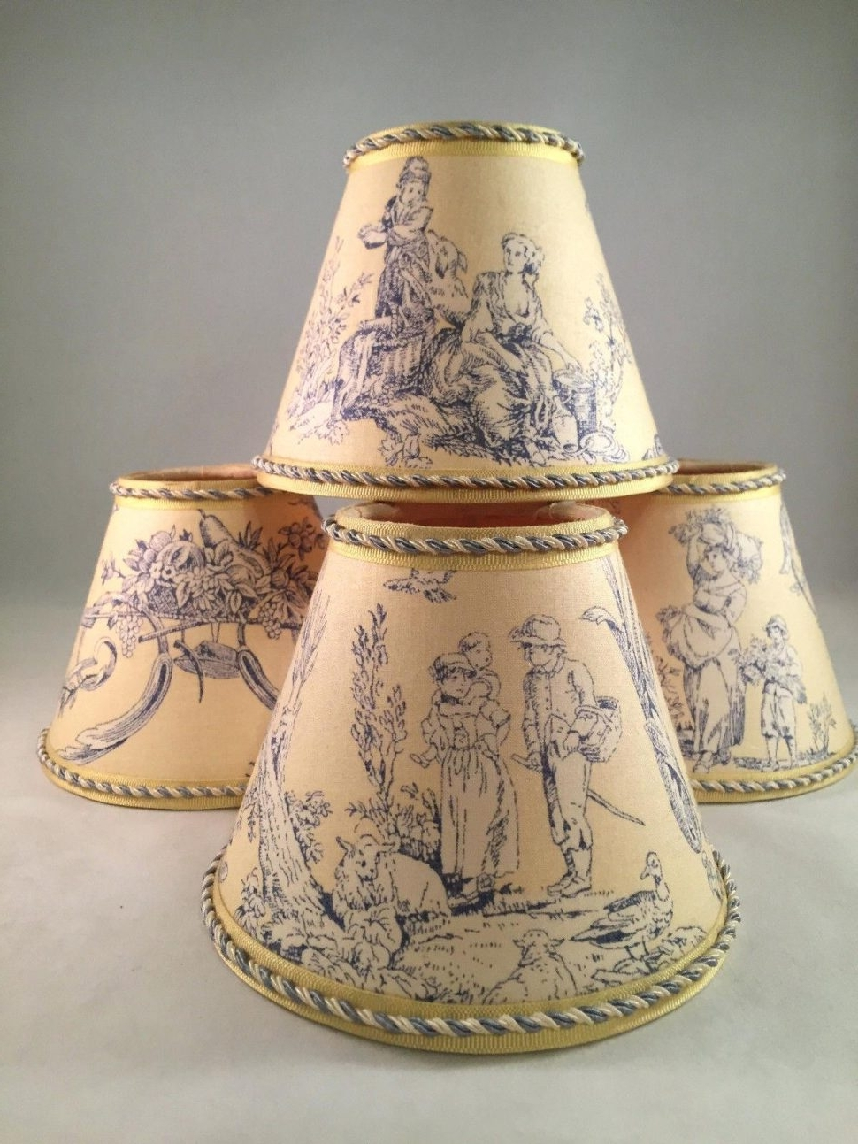 Clip On Chandelier Lamp Shades Intended For Current Red Toile Chandelier Lamp Shades – Chandelier Designs (View 4 of 15)