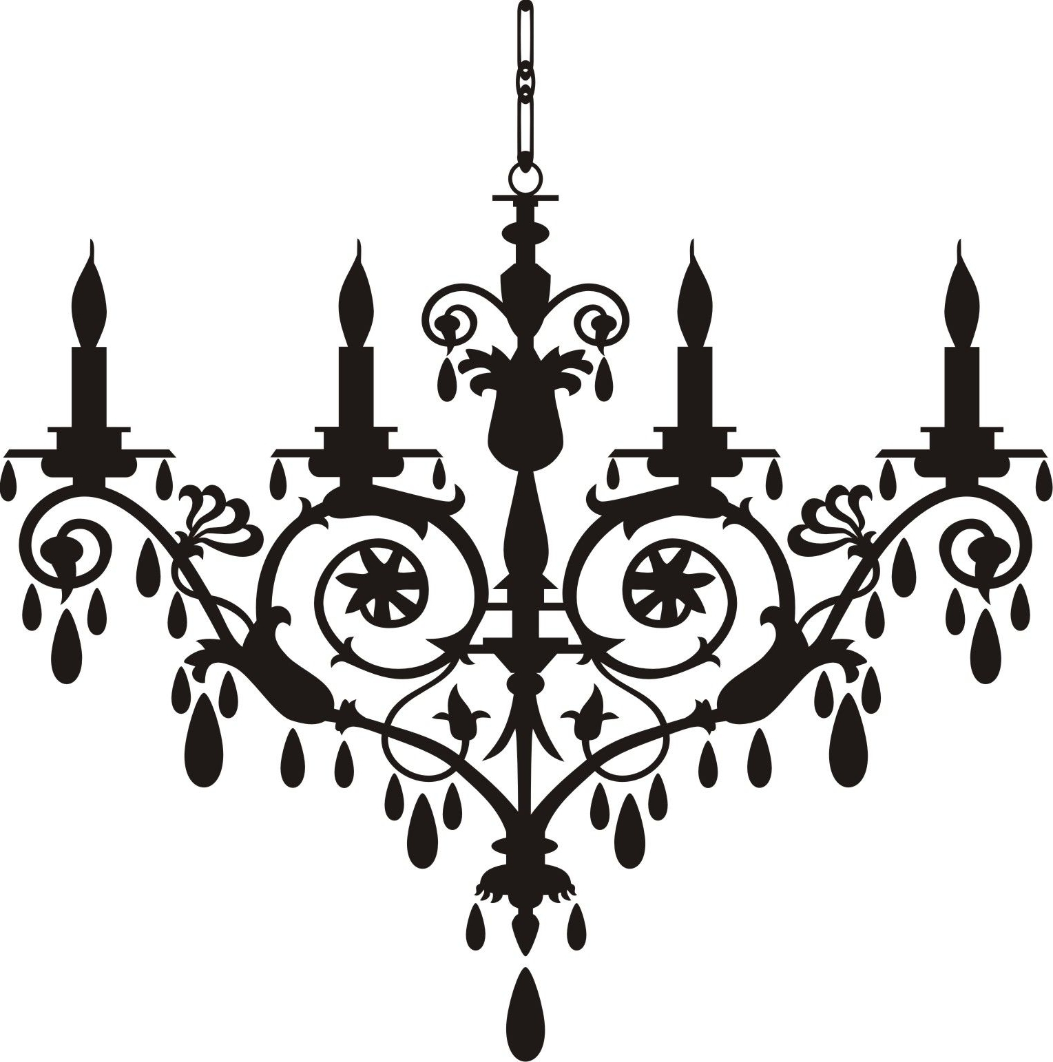Clip On Chandeliers Throughout Favorite Chandelier Clip Art Http://www (View 10 of 15)