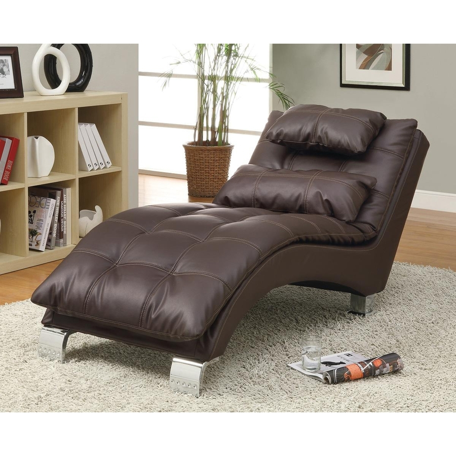 Coaster Chaise Lounges With Regard To 2018 Shop Coaster Fine Furniture Modern Brown Vinyl Chaise Lounges At (View 5 of 15)